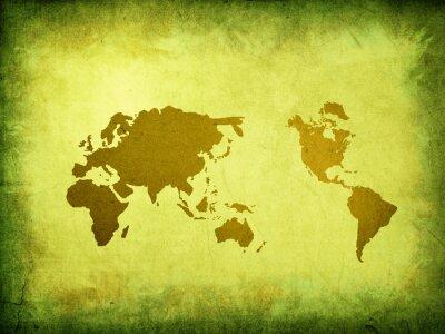 Fototapeta zarysować rocznika mapie świata.