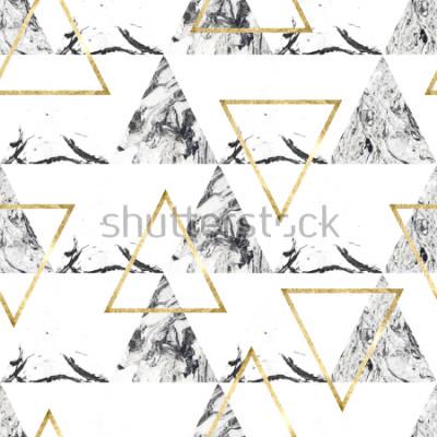 Fototapeta Zawiera wzór z tringles i marmurową teksturą