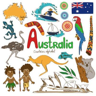 Fototapeta Zbiór ikon Australii