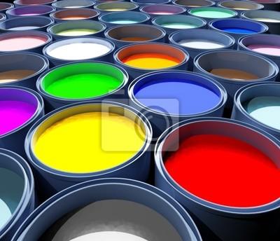 Fototapeta Zbiornik kolor farby, abstrakcyjny