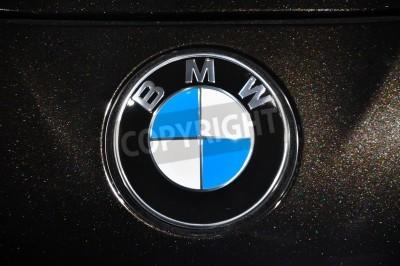 Fototapeta Zbliżenie BMW Chrome metalu