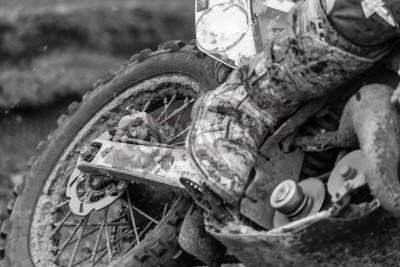 Fototapeta Zbliżenie na rowerze motocross