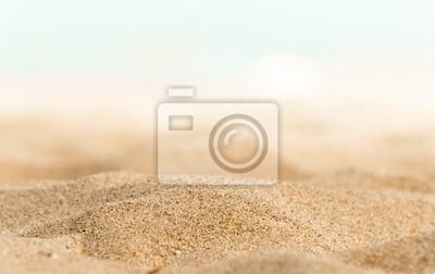 Fototapeta Zbliżenie niektóre piasku na brzegu