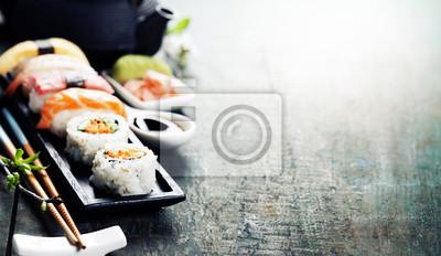 Fototapeta Zbliżenie świeże sushi