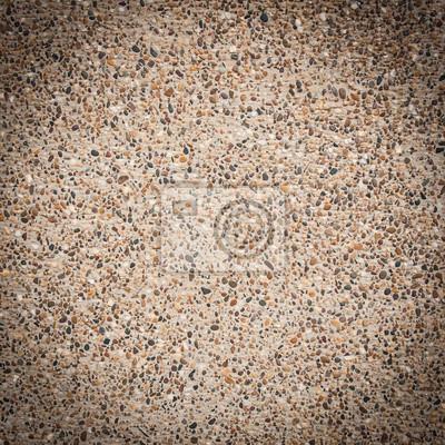 zbliżenie z teksturą brązowy ściany, wykonane z małych skał