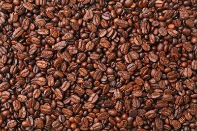Zbliżenie z ziaren kawy