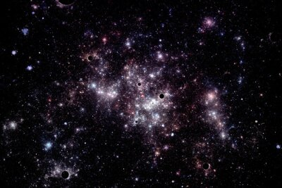 Fototapeta Zdjęcia gwiazd i chmur w mgławicy przestrzeni kosmicznej