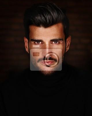 Fototapeta Zdjęcie portret cool przystojny młody człowiek