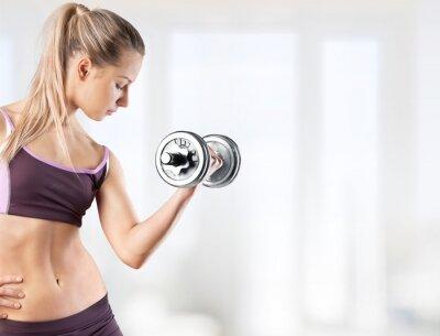 Fototapeta Zdrowie, siłownia, kobieta.