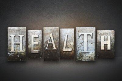 Fototapeta Zdrowie typograficznego
