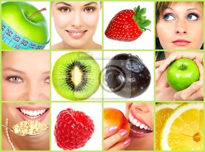 Zdrowy styl życia . Ludzie, diety, zdrowe odżywianie, owoce.