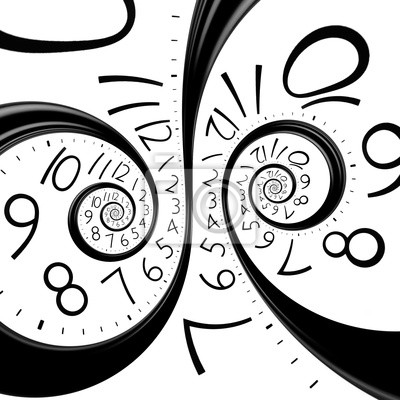 Zegar czasu nieskończoności spirala