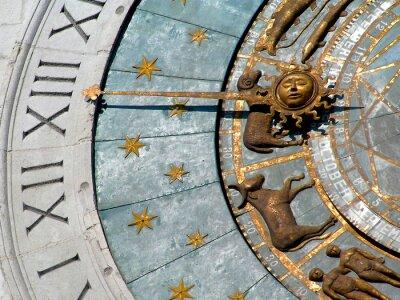 Fototapeta zegar zodiaku
