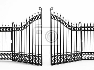 Fototapeta Żelaznej bramy czarny