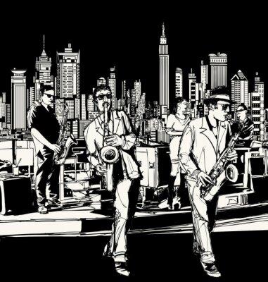 Zespół jazzowy grający w Nowym Jorku