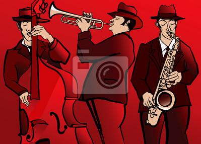 Zespół jazzowy z saksofon basowy i trąbkę