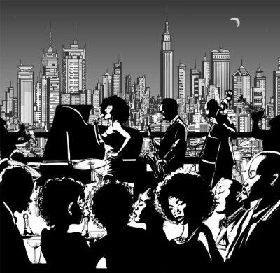 Zespół muzyczny Jazz występując w Nowym Jorku