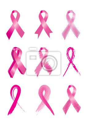 Zestaw 9 Różowe wstążki świadomości raka piersi