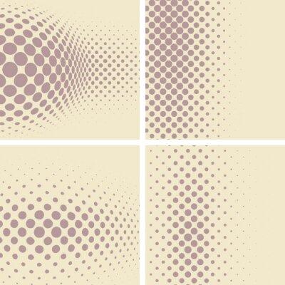 Fototapeta Zestaw abstrakcyjne formy przerywanymi