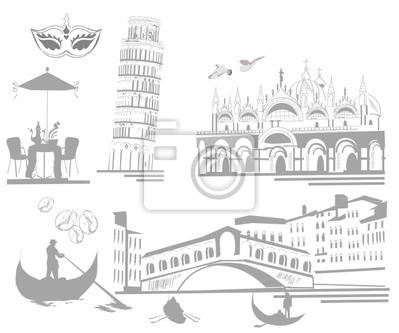 Zestaw atrakcji Włoch