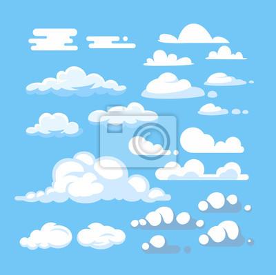 Fototapeta Zestaw chmura kreskówka wektor