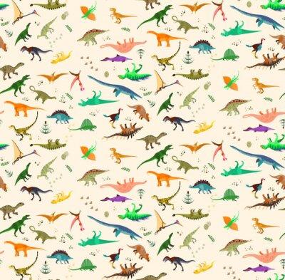 Fototapeta Zestaw dinozaurów