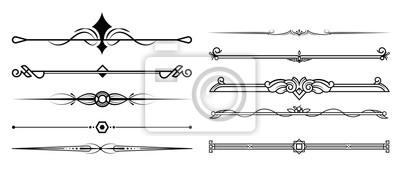Fototapeta Zestaw elementów ozdobnych, ramek i ramek
