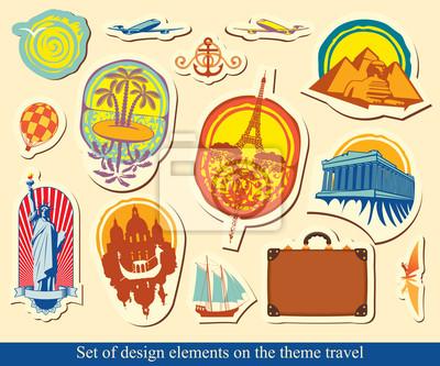 zestaw elementów projektu w branży turystycznej
