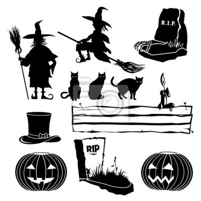 Zestaw Halloween Sylwetki