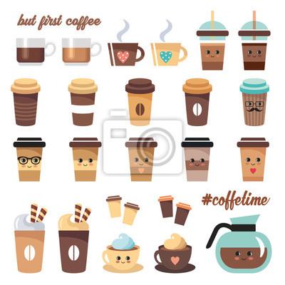 Zestaw ikon kawy Cute