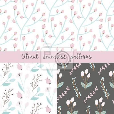Zestaw kwiatowy wzór. Wzór może być stosowany do tapety, wzór wypełnienia tła strony internetowej, tekstury powierzchni.