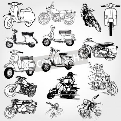 Fototapeta Zestaw motocykla