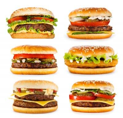 Fototapeta zestaw różnych hamburgerów