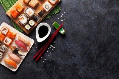 Fototapeta Zestaw sushi i maki