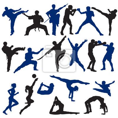 Zestaw Sylwetki sportowe
