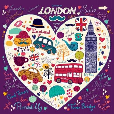 Fototapeta Zestaw symboli Londynu