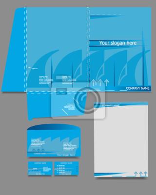 Zestaw szablonów firmowej tożsamości, styl biznesowy, niebieski