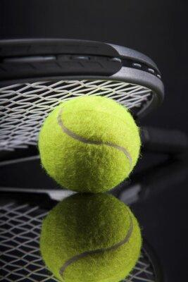Fototapeta Zestaw tenisa. Rakieta i piłka.