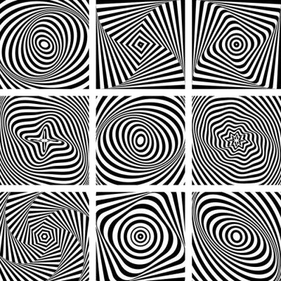 Fototapeta Zestaw wzorców w op sztuki projektowania.