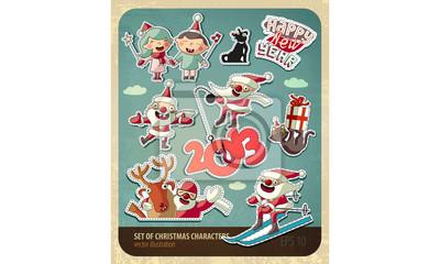 Zestaw znaków Bożego Narodzenia. EPS 10