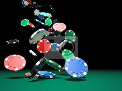 Fototapeta żetony do pokera