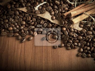 ziaren kawy z cynamonu