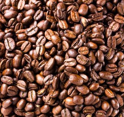 Fototapeta Ziarna kawy tła lub tekstury wysokiej rozdzielczości, zbliżenie
