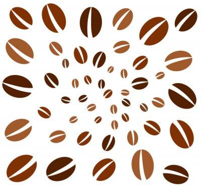 Fototapeta Ziarna kawy tło