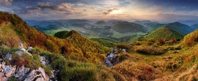 Fototapeta Zielona Góra Wiosna Słowacja, charakter, krajobraz z słońca i ero