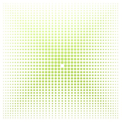 Fototapeta Zielona kropka z białym tłem