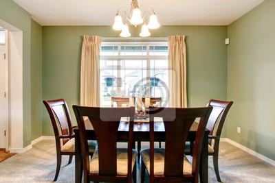 Zielona Kuchnia Wnętrze Klasyczne Brązowe Meble Fototapety Redro