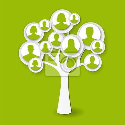 Zielone drzewo człowieka