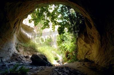 Fototapeta Zielony wyjścia z Jaskini Tajemnic