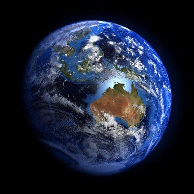 Fototapeta Ziemi z przestrzeni pokazano Australii i Indonezji.
